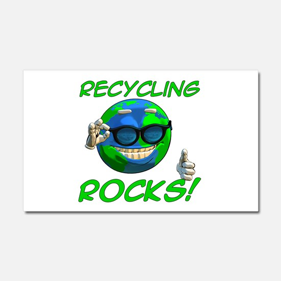 Recycling Rocks! Car Magnet 12 x 20