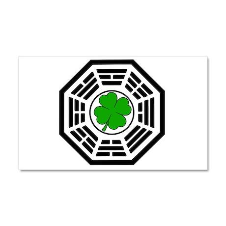 Dharma Initiative Shamrock St Car Magnet 12 x 20