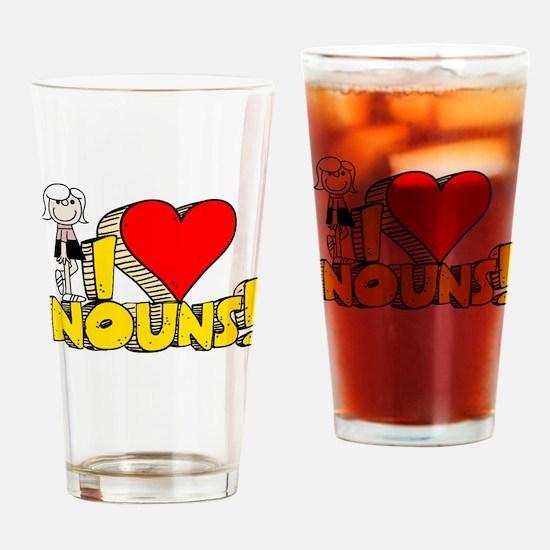 I Heart Nouns Pint Glass