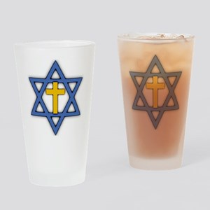Star of David with Cross Pint Glass