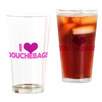 I Heart Douchebags Pint Glass