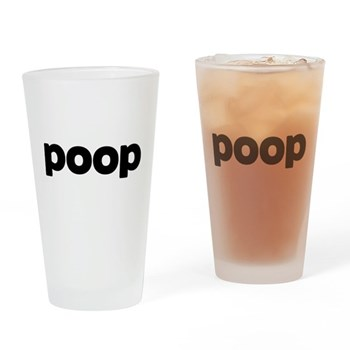 Poop Pint Glass