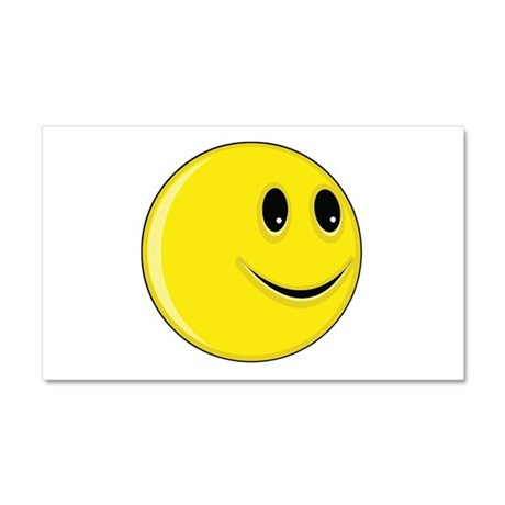Smiley Face - Looking Left Car Magnet 12 x 20