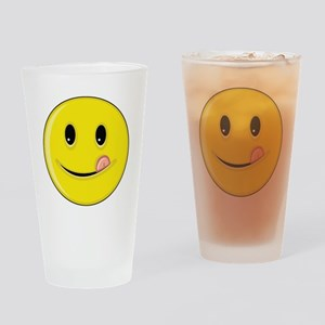 Smiley Face - Licking LIps Pint Glass