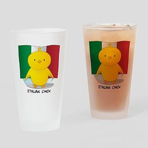 Italian Chick Pint Glass