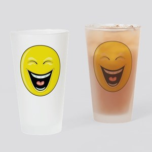 """Smiley Face - """"LOL"""" Laughing Pint Glass"""