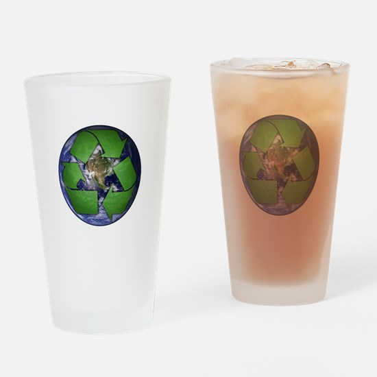 Green Recycle on Earth Pint Glass