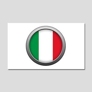 Round Flag - Italy Car Magnet 12 x 20