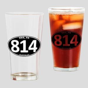 Black Erie, PA 814 Pint Glass