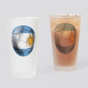 Argentina Football Drinking Glass