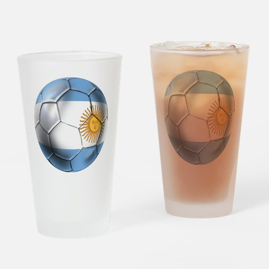 Argentina Football Drinking Glass