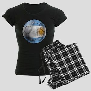 Argentina Football Women's Dark Pajamas