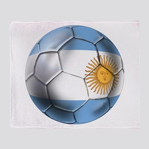 Argentina Football Throw Blanket