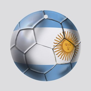 Argentina Football Ornament (Round)