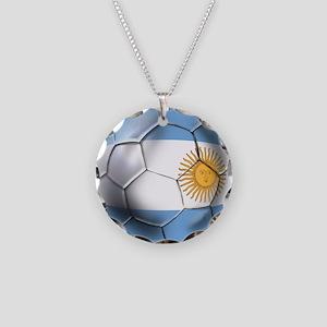 Argentina Football Necklace Circle Charm