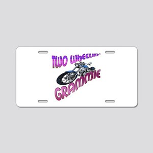 TWO WHEELIN' GRAMMIE Aluminum License Plate