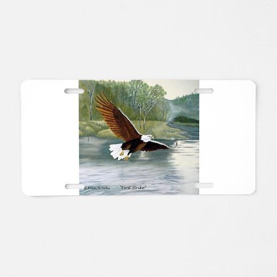 American Bald Eagle Flight Aluminum License Plate