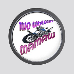 TWO WHEELIN' MAMAW Wall Clock