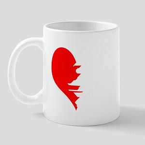Half Heart Twin Mug