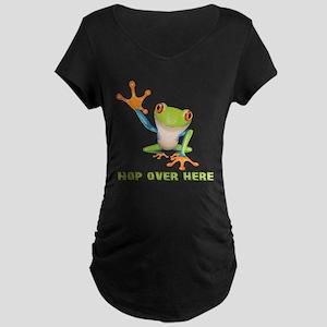 Hop Over Here Maternity Dark T-Shirt