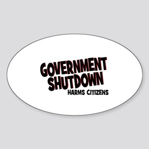 Government Shutdown Harms Cit Sticker (Oval)