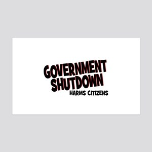 Government Shutdown Harms Cit 38.5 x 24.5 Wall Pee