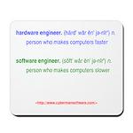 HW Engineer vs. SW Engineer Mousepad