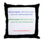 HW Engineer vs. SW Engineer Throw Pillow