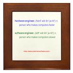 HW Engineer vs. SW Engineer Framed Tile