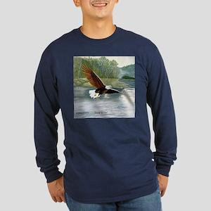 American Bald Eagle Flight Long Sleeve Dark T-Shir