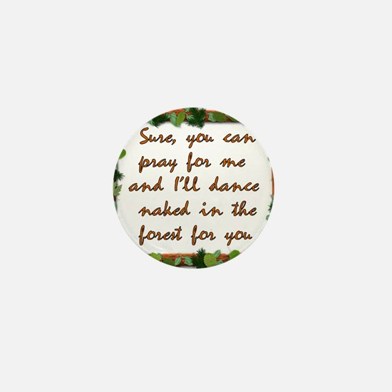 Naked Pagan Dance Mini Button