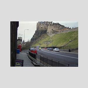 Edinburgh Castle, Scotland, U Rectangle Magnet