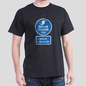 Hurricane Evacuation Plan Dark T-Shirt