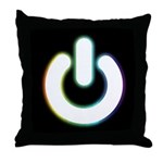 Power On (Dark) Throw Pillow