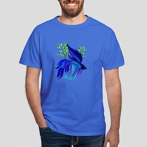Big Blue Siamese Fighting Fis Dark T-Shirt