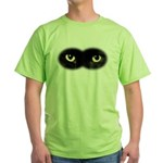 Black Cat Eyes Green T-Shirt