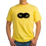 Black Cat Eyes Yellow T-Shirt