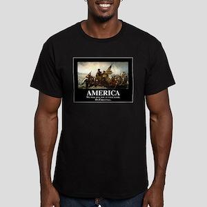 America: We will kill Men's Fitted T-Shirt (dark)