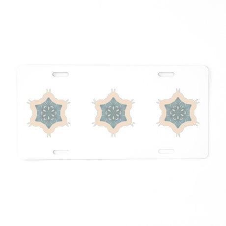 Snowflake III Aluminum License Plate