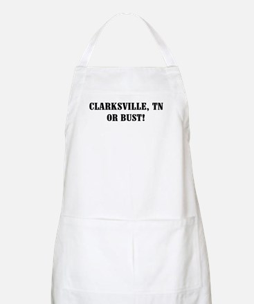 Clarksville or Bust! BBQ Apron