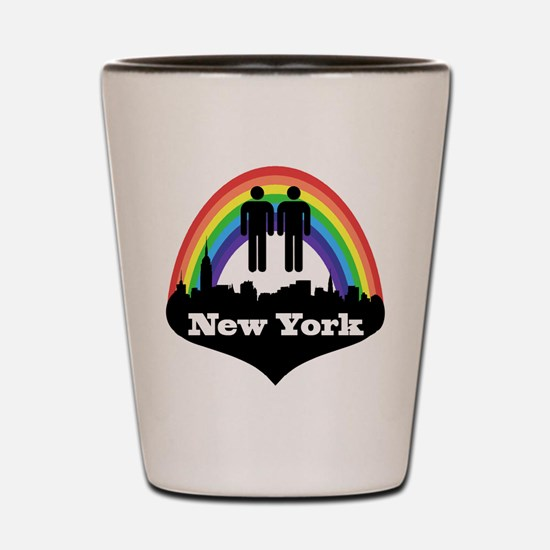 Gay Marriage in New York Shot Glass