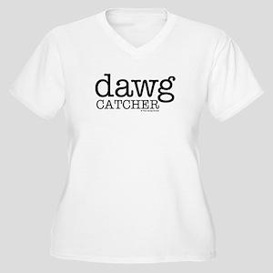 Dawg Catcher Women's Plus Size V-Neck T-Shirt
