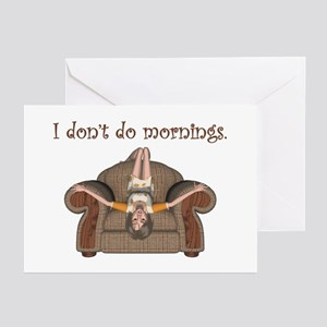 I Don't Do Mornings (A) Greeting Cards (Package of