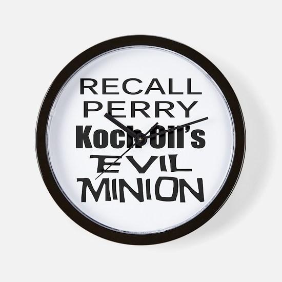 Recall Governor Rick Perry Wall Clock