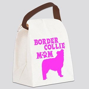 Border Collie MOM Canvas Lunch Bag