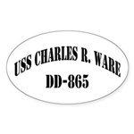 USS CHARLES R. WARE Sticker (Oval)