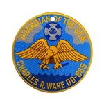 USS CHARLES R. WARE Ornament (Round)