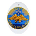 USS CHARLES R. WARE Ornament (Oval)