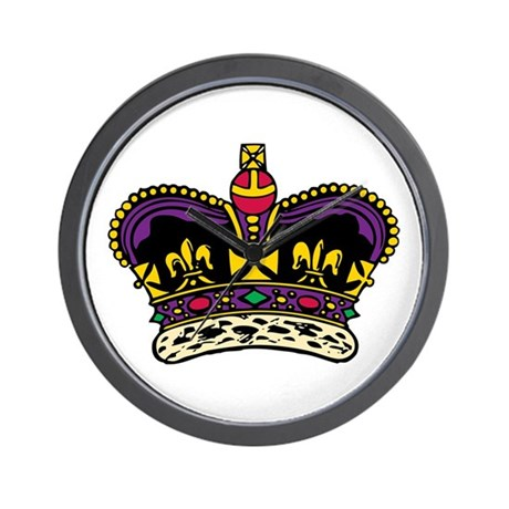 King's Crown Icon Wall Clock