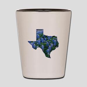 TX Bluebonnets Shot Glass